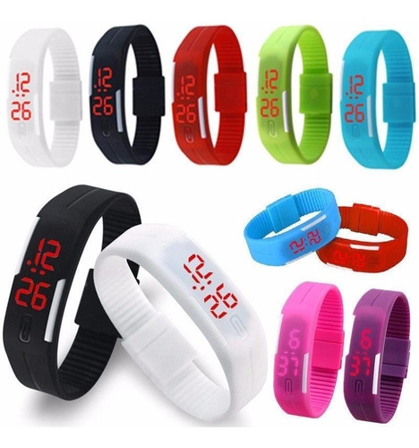 reloj touch led delgado,unisex, moda, varios colores deporte