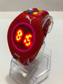 c04a4c177 Reloj Touch Led Digital Puma Rojo Colors Ultra Slim Silicon