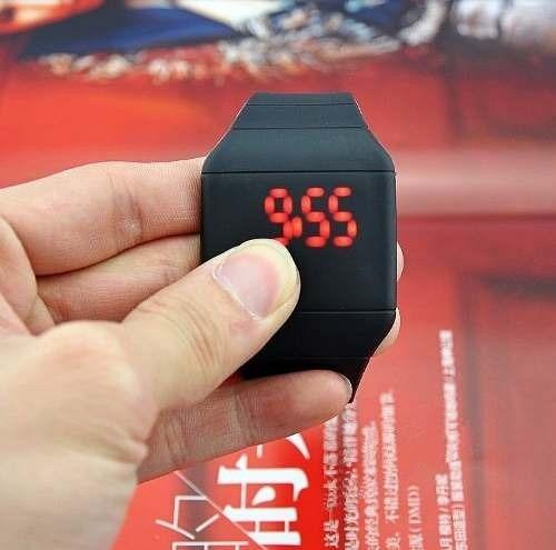 reloj touch ultra delgado digital led colores de moda