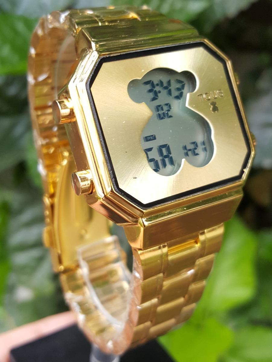 089a07f9c632 Reloj Tous D-bear Dorado Digital Cuadrado Con Luz -   399.00 en ...