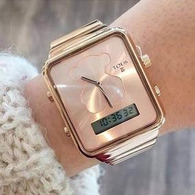 gran descuento 108c5 245fe Reloj Touz Dama Digital Y Manecillas En Acero Oro Rosa