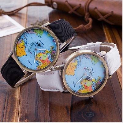 reloj travel mapa del mundo