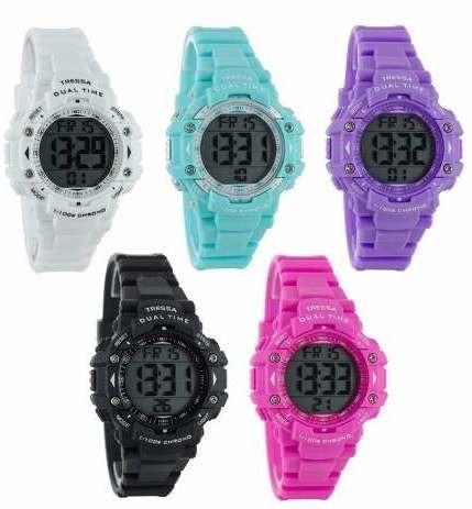 reloj tressa ana digital sumergible100m garantia oficial 12m