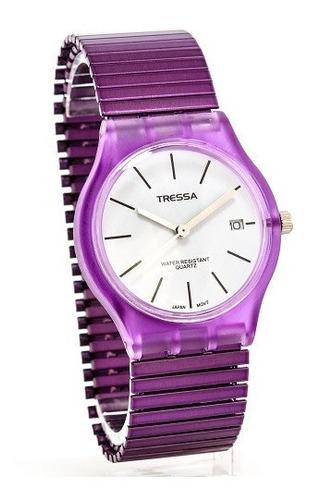reloj tressa de dama con malla elastizada modelo katy