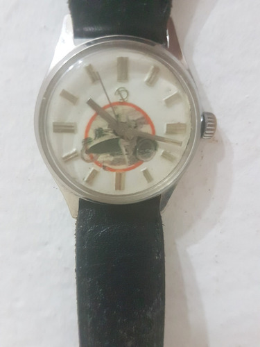 reloj tressa de hombre con motocicleta original a cuerda 17