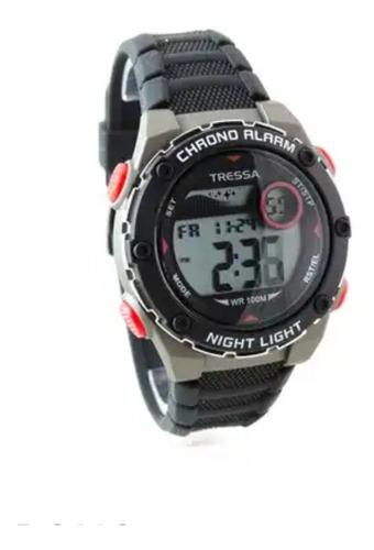 reloj tressa digital sumergible 100m night light crono alarma ,garantia oficial !