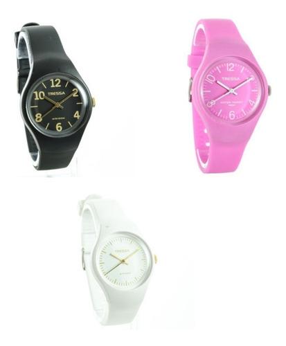 reloj tressa funny sumergible disponible en varios colores
