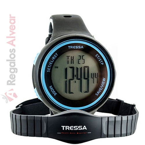 reloj tressa hr-9125 azul monitor cardiaco pulso frecuencia