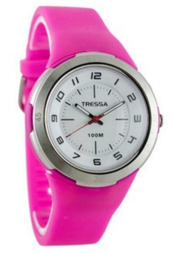 reloj tressa patty quartz sumergible 100m varios colores gti