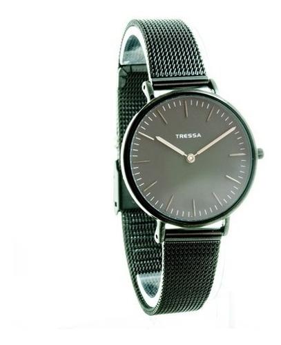 reloj tressa unisex todo negro malla tejida modelo bonnie/b