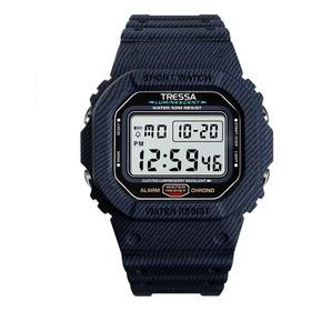 Reloj Tressa Zulu Digital Alarma Calendario Luz Gtia Oficial
