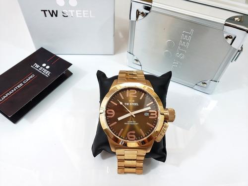 reloj tw steel caballero rose gold zafiro cb192 original