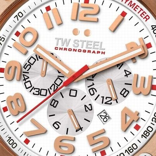 reloj tw steel grandeur tech blanco dorado tw132 silicon