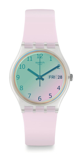 reloj ultrarose swatch rosado
