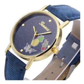 Reloj Unicornio Dama Moda Mujer Jeans Piña Cactus A989