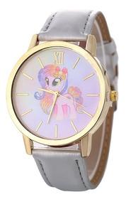Reloj Unicornio Dama Moda Mujer Vinil Piel Pastel B139