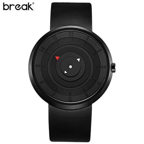 reloj unisex break diseño 3d exclusivo sumergible (3bar)