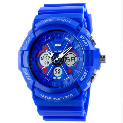 reloj unisex s -shock 0966 - azul - reloj deportivo