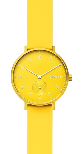 reloj unisex skagen aaren kulor neon skw2820 color amarillo