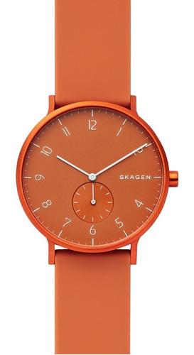 reloj unisex skagen aaren kulor skw6511 color anaranjado