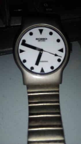 reloj unisex, soho acero.