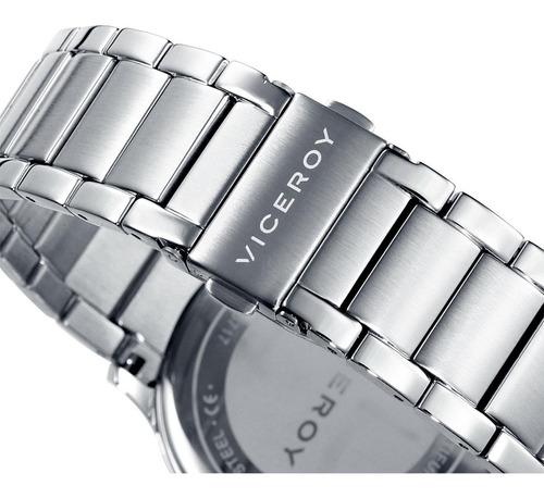 reloj viceroy hombre de lujo en acero