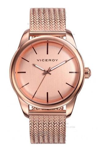 reloj viceroy hombre oro rosa de lujo en acero
