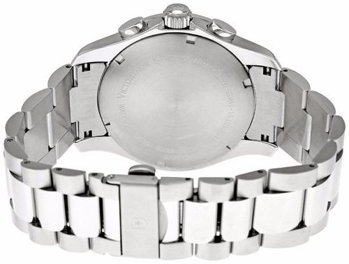 reloj victorinox classic acero inoxidable cronógrafo 241405