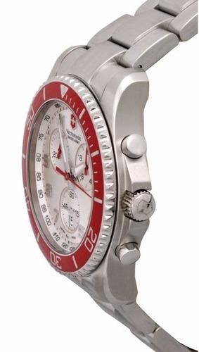 reloj victorinox maverick gs cronógrafo plateado 241434