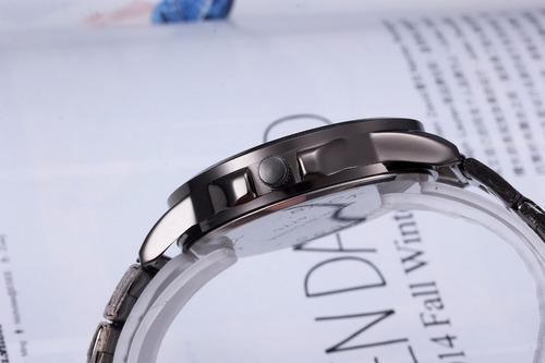 reloj vikec black metalico negro estilo moda original hombre
