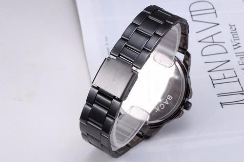 reloj vikec white metalico negro estilo moda original hombre