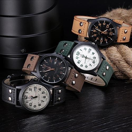 reloj vintage clásico con correa de cuero