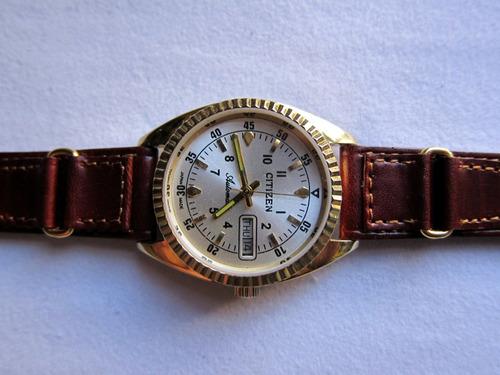 reloj vintage de pulsera citizen chapa de oro  made in japan