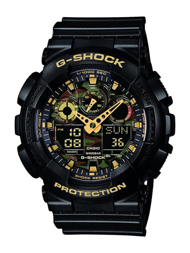 reloj watch casio g-shock ga-100cf-1a9er masculino