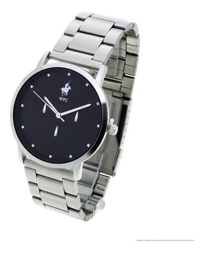 reloj wellington polo club dan hombre malla metal analógico