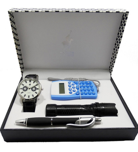 reloj wellington polo club hombre set calculadora garantia