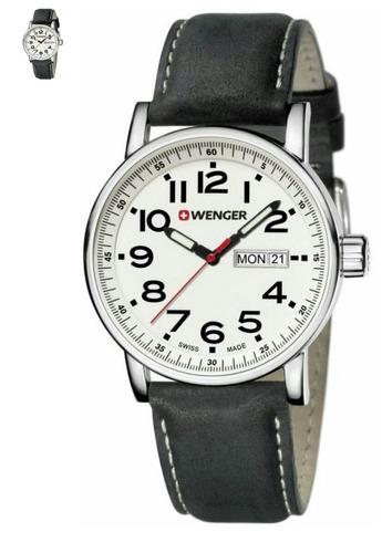 reloj wenger cristal zafiro irrayable correa cuero
