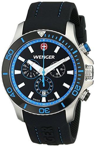reloj wenger  negro masculino
