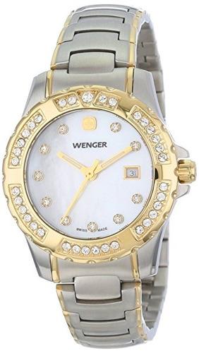 reloj wenger  plateado u110