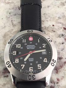 Army Swiss Reloj Malla Wenger Cuero 80PwknOX