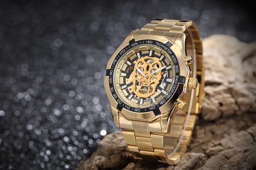 reloj winner hombre automático skeleton calavera skull 01