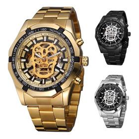 Reloj Winner Hombre Automático Skeleton Calavera Skull Zdt