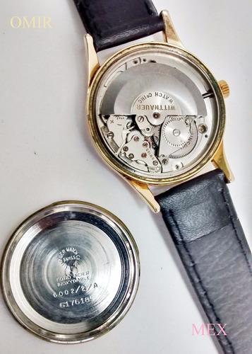 reloj wittnauer suizo automatico chapa de oro vintage