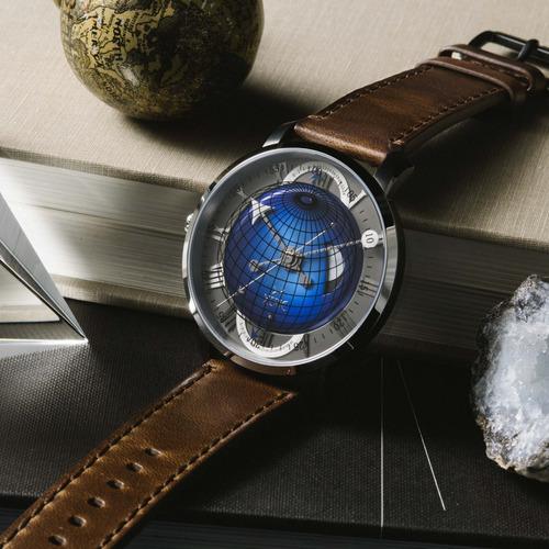 reloj xeric atlasphere gmt azul edición limitada!!!