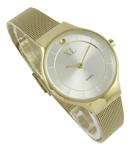 reloj xl extra large dama acero plateado xl760/61