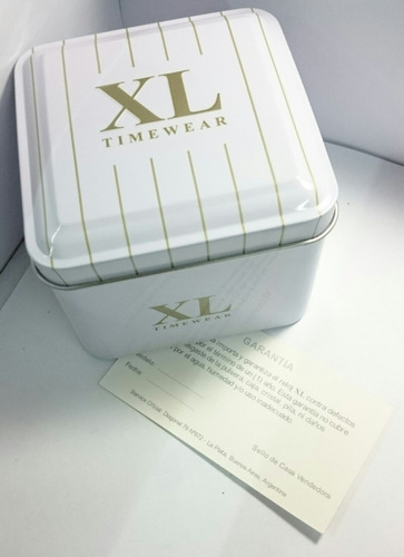 reloj xl extra large dama xl803 glitter malla caucho