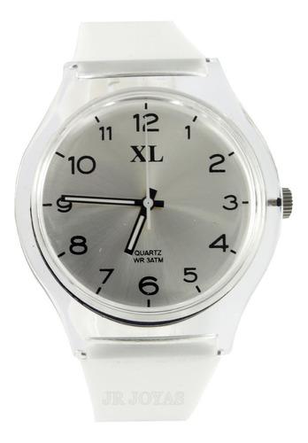 reloj xl extra large dama xl804 malla caucho colores