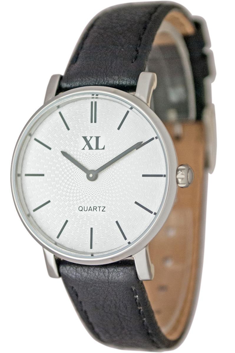 6e3784a64431 reloj xl extra large moda cuero dama xl 642 negro. Cargando zoom.