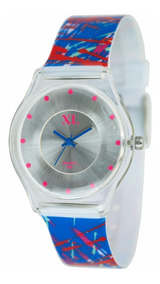 Large Moda Extra Dama Xl466 19 Xl Plástico Reloj Rayado WDH92IE