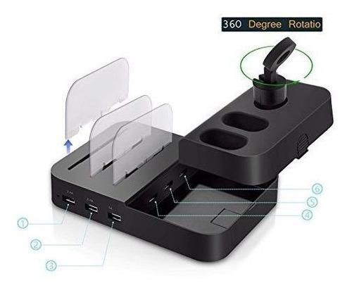 reloj y telefono celular airpods charging dock holder 6 puer